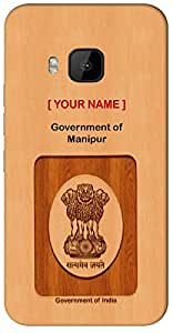 """Express your Government Job with """" Your Name """" Printed on your Motorola Moto G-4-PLAY Mobile back cover with your Dept: Government of Manipur"""