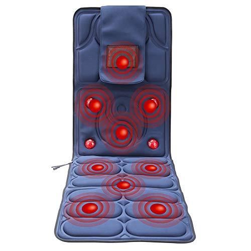 Yuasia schiena massaggio cuscino copri sedile massaggiante elettronico massaggiatore con funzione calore per casa ufficio e auto, alleviare dolore collo spalle gambe vita anca, sedersi e sdraiarsi
