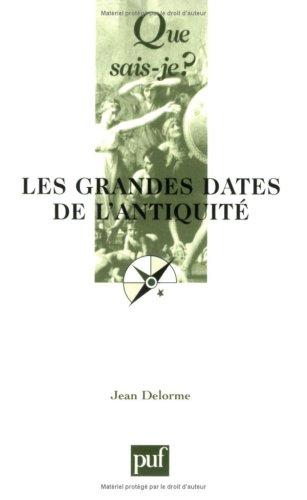 Les Grandes Dates de l'Antiquité par Jean Delorme