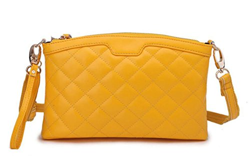 Clutch In Pelle Trapuntato Ms. Yellow