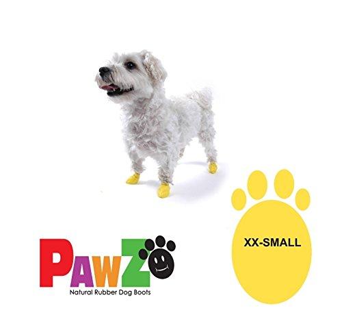 PawZ Dog Boots (1 pz) - Stivaletto impermeabile per cane, in gomma naturale, in varie taglie (XX-Small (zampa fino a 3.81 cm))