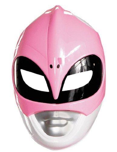 Power Rangers Maske Lizenzartikel pink-Weiss Einheitsgröße