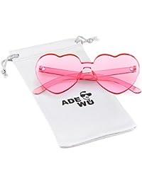 ADEWU Randlos Sonnenbrille Herzform Süßigkeit Farbe Brille Damen Frauen 00cc6b52b7