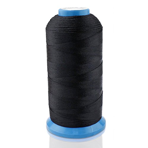 Wheatefull Tight starker schwarz Bonded Nylon Nähgarn für Outdoor, Ledersitze, Taschen, Schuhe,...