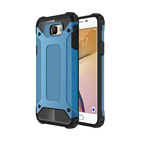 Samsung Galaxy J7 Prime Case Tough Armor TPU + PC Kombi Hülle Für Samsung Galaxy J7 Prime by diebelleu ( Color : Red ) Blue