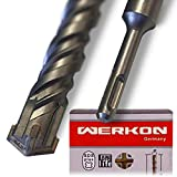 WERKON Mèche à béton 25 x 600 mm professionnelle SDS Plus pour perceuse à...