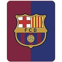 CTI Manta oficial del FC Barcelona 044930 - Manta tipo plaid de 110 x 140 cm. fabricada en poliéster con los colores azul y grana