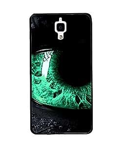 Fuson Green Eye Back Case Cover for XIAOMI MI4 - D4080