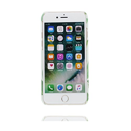 Custodia iPhone 7, iPhone 7 copertura case in silicone TPU leggero sottile adatto Cover per iPhone 7 4.7 Inch- gatto Cat Stripe foglie di palma