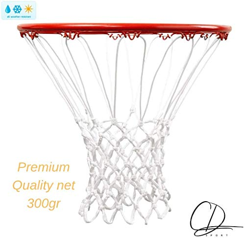 CDsport Retina da Basket per canestro Anti Sflitacciamento Grandezza Regolamentare Polipropilene per Canestro Standard Ultra Resistente qualità