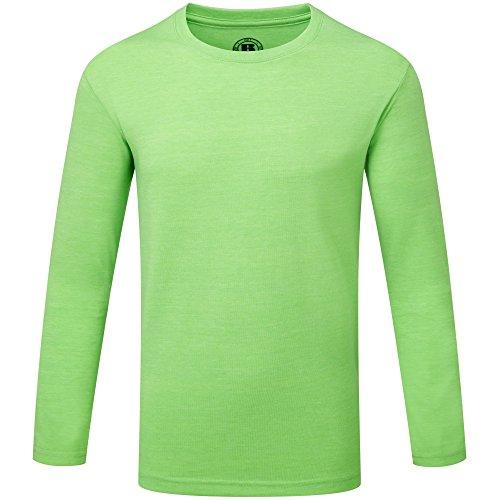 Russell Jungen Langarm HD T-Shirt (9-10 Jahre (140)) (Grün Marl) (69 Langarm-t-shirt)