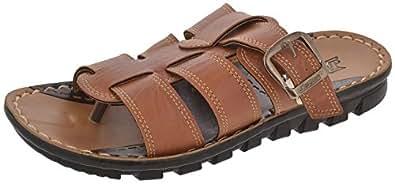 Paragon Men's Tan PU Slippers (6)