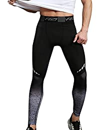 7283d3e759 Vertvie Mens Compression Sports Pants Yoga Leggings Tights Running Clothes  for Gym Workout