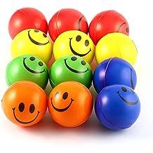 LoveOlvidoE 12 UNIDS Sonrisa Cara Estrés Alivio de la Esponja Bolas de  Espuma Fuerza de la ec69a25c7d84c