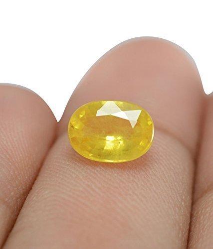 Pukhraj Stone Original Certified Natural Yellow Sapphire Gemstone 4 Ratti