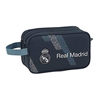 Safta 2 Cremalleras Adaptable A Carro Real Madrid, Color Azul, 26 cm (811834518)