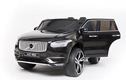 volvo xc90 elektrisches auto f r kinder schwarz 2 4ghz fernbedienung 2 motoren zweisitzer in. Black Bedroom Furniture Sets. Home Design Ideas