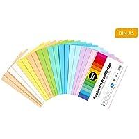 perfect ideaz cartulina cuché pastel DIN-A5 de colores 100 hojas, cartulina, de color, en 10 colores diferentes, grosor de 300g/m², hojas de la máxima calidad