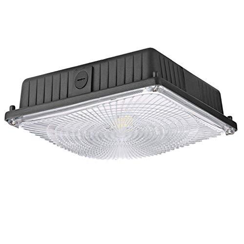Ruitx 45W LED-Baldachin-Licht, 5300 LM 5000K UL-Gelistet Und DLC-Qualifiziert, Tankstelle, Straße, Bereich & Außenbeleuchtung, Balkon Carport Einfahrt Deckenlicht 2 Stück