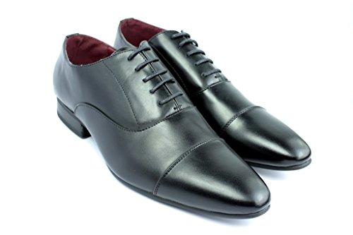 Scarpe Formali Da Uomo Oxford Lavoro Matrimonio Con Lacci Elegante Da Ufficio misura UK Nero