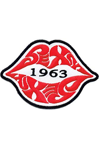 Lucky Kiss (Lucky Patches, Aufnäher, Applikation, Aufbügler, Iron on Patch - Sexy 1963, Kiss, Love, Liebe, Lippen 8 x 6 cm)