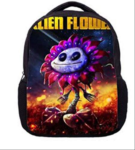 HPADR Kinderrucksack Kinderspiel Plants Vs Zombies School Bags 3D Printing Backpack for Teenage Boys Girls Bag 10