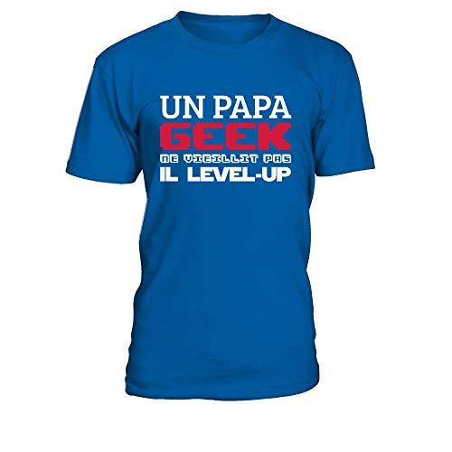 teezily T-Shirt Homme Un Papa Geek Ne Vieillit Pas...