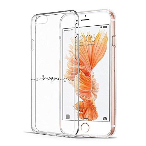 """Qissy® Coque iPhone 6plus ,pour Apple iPhone 6plus / 6Splus Coque Transparent TPU Silicone Doux TPU Case Cover Housse Etui pour Apple iPhone 6plus / 6Splus 5.5"""" 26"""