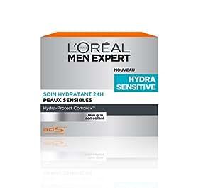 L'Oréal Men Expert Hydra Sensitive Soin Visage Homme Hydratant 24H Peaux Sensible