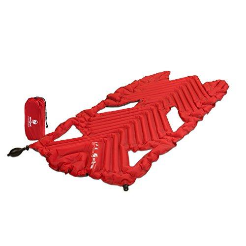Klymit Aufblasbare Outdoor Campingmatte Luftmatratze Inertia X Wave - Esterilla auto-inflable para acampada, color rojo
