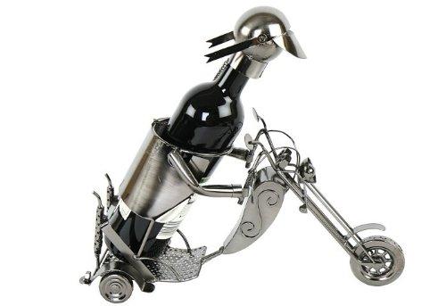 Flaschenhalter Motorradfahrer 37 x 14 x H 40 cm