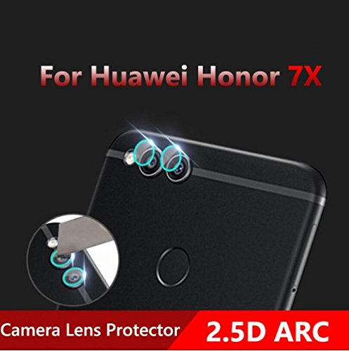 Shockware Camera Tempered Back/Rear Glass Lens Protector Soft Protective Film Compatible With Huawei Honor 7X