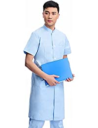 Xuanku Doctor Desgaste Vestido De Manga Corta Clínica Dental Collar Chino De La Medicina Tradicional China Batas Blancas De Ropa De…