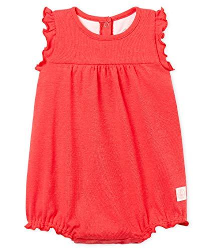 Petit Bateau Baby - Mädchen Spieler combicourt_4851601, Pink (Groseille 01), 80 (Herstellergröße: 12M/74cm) - Spieler Mädchen