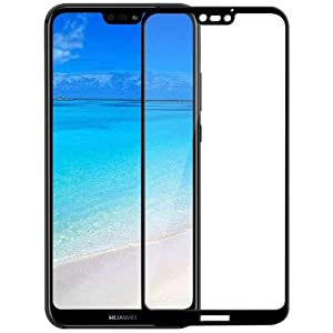Huawei P20 Lite Screen Protector,9H Hardness Huawei P20 LITE Front Tempered Glass Screen Protector 5D Full Coverage(Black) by Jump Start™