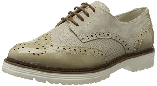 Softline Ladies 23763 Scarpe Stringate Brogue Marrone (pettine Duna 414)