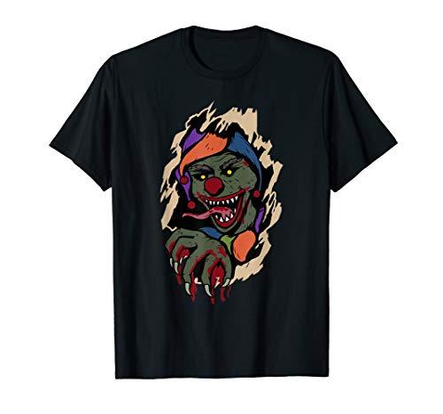Furchtsamer Clown, der Horror-lustiges Geschenk Halloweens T-Shirt (31. Oktober Halloween-2019)