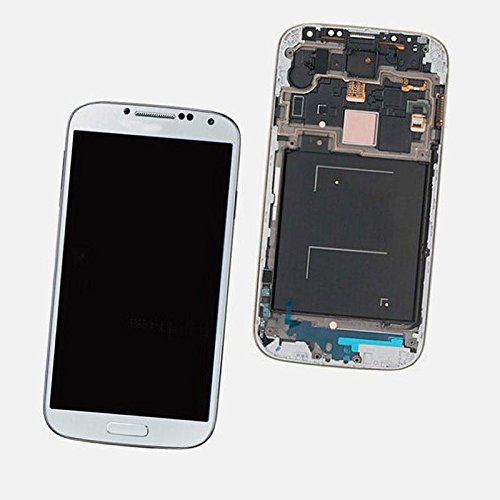 Samsung Galaxy S4 i545 L720 R970 White Touch Screen LCD Assembly Panel + Digitizer(With Frame)(Complete Package)  available at amazon for Rs.13340