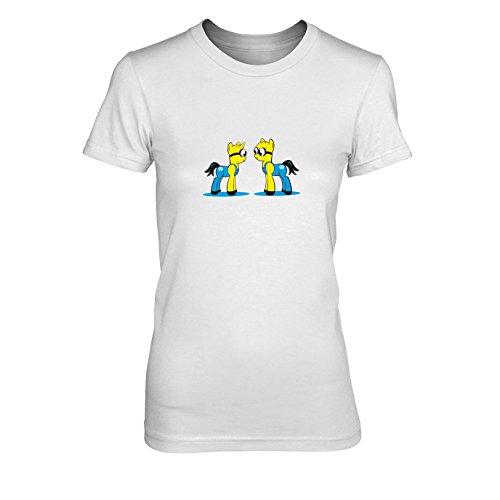 Kostüm Pony Applejack - My Little Bananas - Damen T-Shirt, Größe: XL, Farbe: weiß