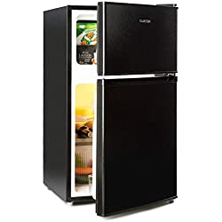 Klarstein Big Daddy Cool - Combiné réfrigérateur congélateur 87 L, 61L refrigérateur + 26L congélateur, 42 dB, A+, noir
