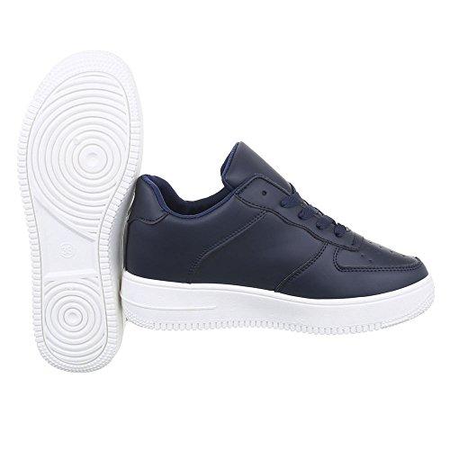 Ital-Design , chaussons d'intérieur femme bleu foncé