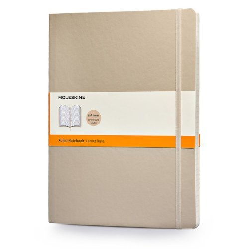 Moleskine Soft Extra Large Khaki Beige Ruled Notebook: Written by Moleskine, 2014 Edition, (Ntb) Publisher: MOLESKINE S.p.A. [Diary]