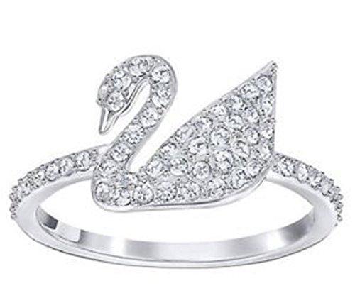 Swarovski Damen-Ring Platiniert Kristall transparent Rundschliff 5250743