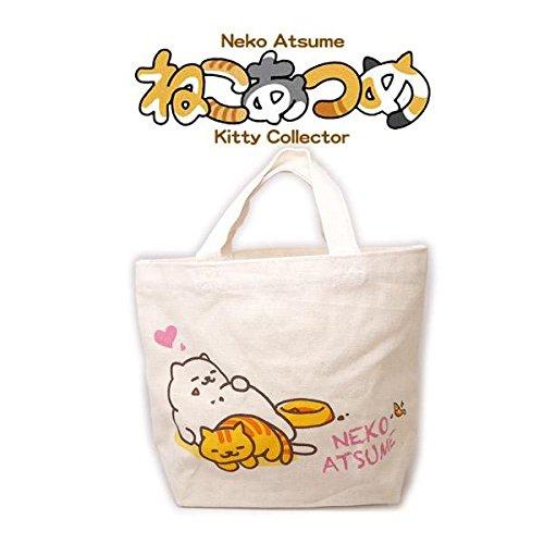 Herz Tote Handtasche (Neko Atsume Kitty Collector Baumwollgewebe Mini Tote Handtasche (Herz))