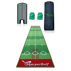 Sharper Golf Putting-Matte mit Spiegel und Zubehör, 3 x 51 cm