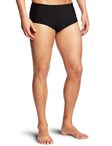 Speedo Herren Xtra Life Lycra Solid 12,7cm Slip Badeanzug, Herren, schwarz (Badeanzug Herren Solid)