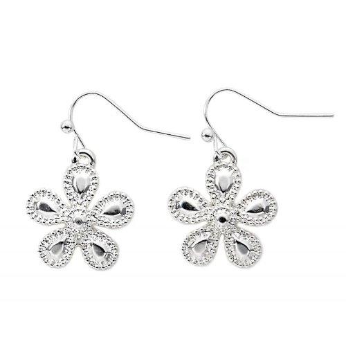 muck Ohrringe Ohrhänger Blume silber (Designer Modeschmuck Sale)