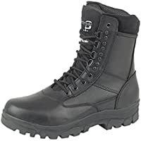 Grafters Hi-Leg Combat Boots With Steel Sole Protection. Police Security Army Cadet Safety Boots