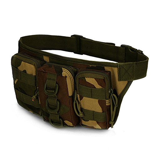 Camouflage Military Taille Tasche Camping Wandern Tactical Tasche Radfahren Armee MOLLE Jungle Camo