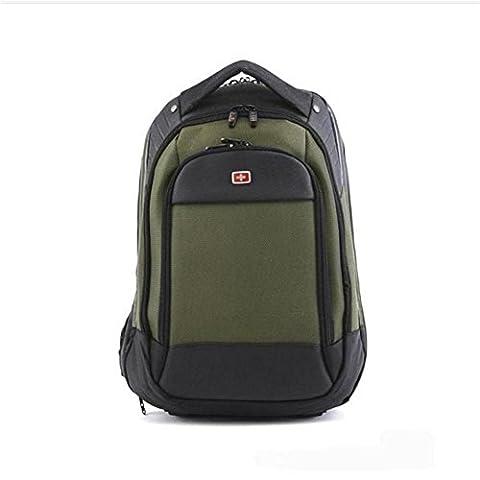 Laptop Backpack Sac à dos pour ordinateur portable 15 pouces Durable Water Resistant School / Business / Work Daypack , green